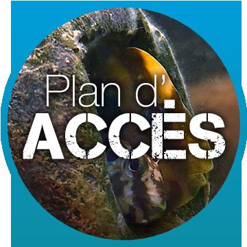 plan d'acces bulles plongée à Palavas